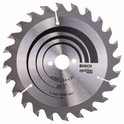 Bosch Lame de scie circulaire OPTILINE 160X16 24T