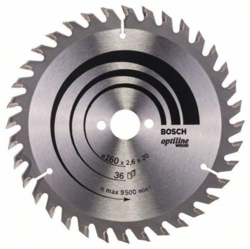 Bosch Circular saw blade OPTILINE 160X16 36T