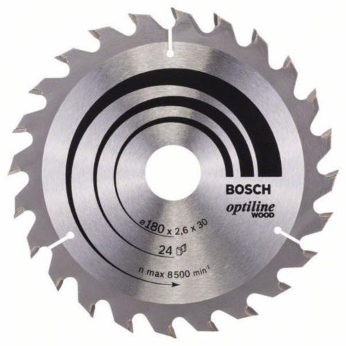 Bosch Kreissägeblatt OPTILINE 180X30 24T