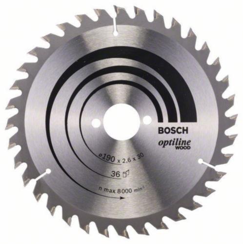 Bosch Lame de scie circulaire OPTILINE 190X30 36T