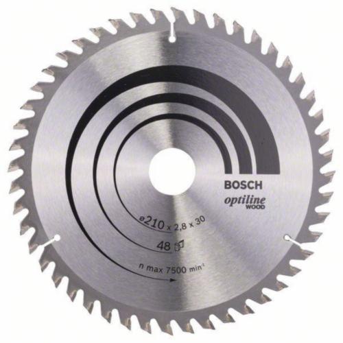 Bosch Lame de scie circulaire OPTILINE 210X30 48T