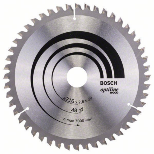Bosch Lame de scie circulaire OPTILINE 216X30 48T