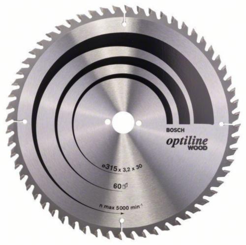 Bosch Lame de scie circulaire OPTILINE 315X30 60T