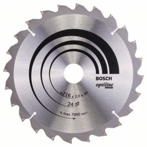 Bosch Kreissägeblatt OPTILINE 216X30 24T