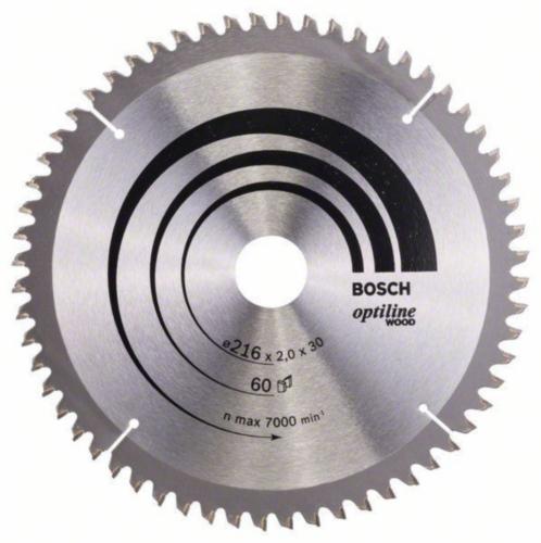 Bosch Hoja de sierra circular OPTILINE 216X30 60T