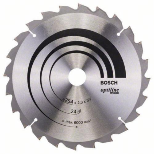 Bosch Hoja de sierra circular OPTILINE 254X30 24T