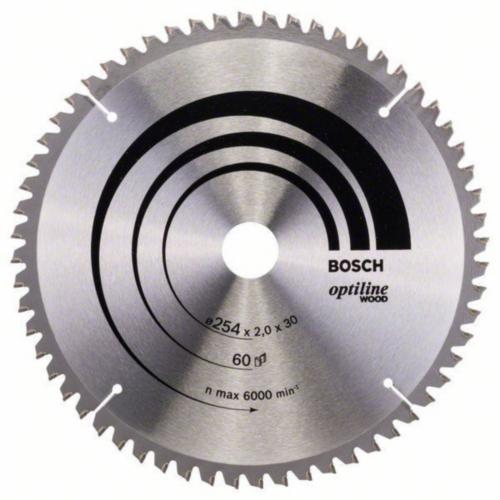 Bosch Hoja de sierra circular OPTILINE 254X30 60T