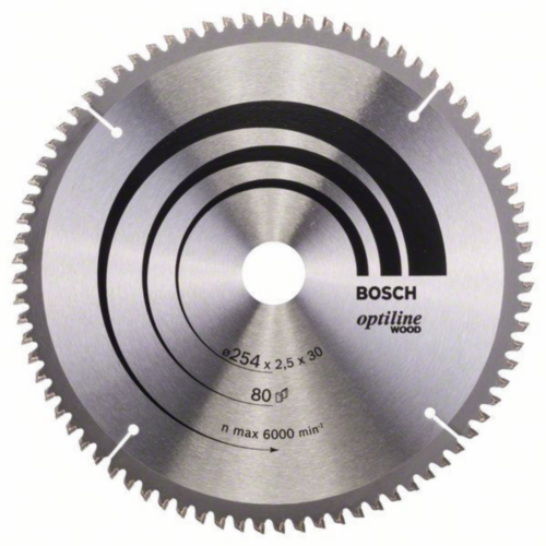 Bosch Kreissägeblatt OPTILINE 254X30 80T