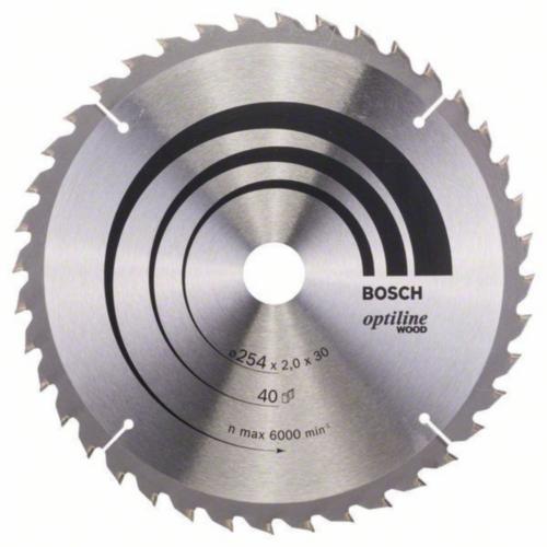 Bosch Hoja de sierra circular OPTILINE 254X30 40T