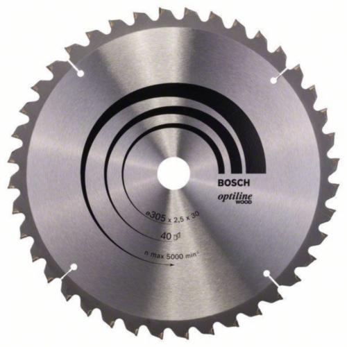 Bosch Hoja de sierra circular OPTILINE 305X30 40T