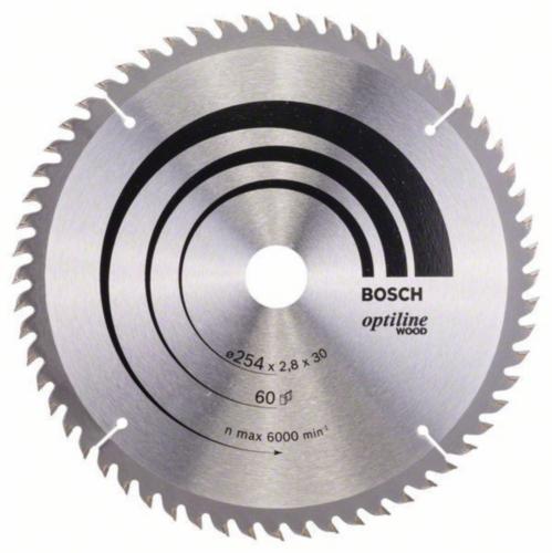 Bosch Kreissägeblatt OPTILINE 254X30 60T