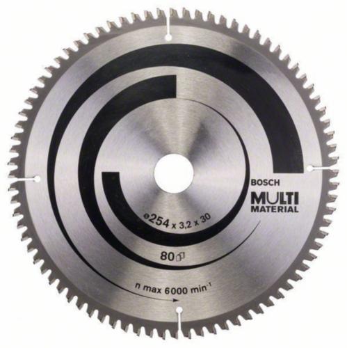 Bosch Hoja de sierra circular MULTIMAT 254X30 80T