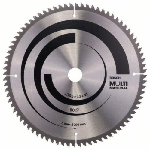 Bosch Hoja de sierra circular MULTIMAT 305X30 80T