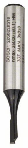 Bosch Frezy walcowo-czołowe VINGER HM 3X8/8MM