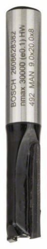 Bosch Frezy walcowo-czołowe VINGER HM 9X20/8MM