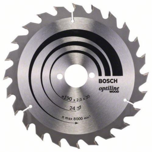Bosch Lame de scie circulaire OPTILINE 190X30 24T