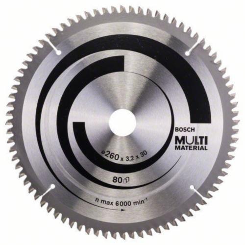 Bosch Lame de scie circulaire MULTIMAT 260X30 80T