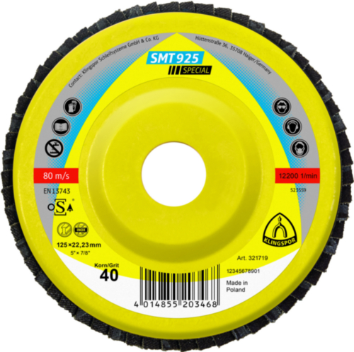 Klingspor Flap disc 125X22,23