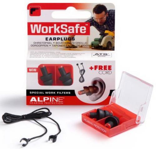 Alpine Earplugs Worksafe Black ZWART