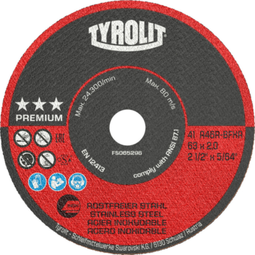 Tyrolit Disco de corte 63X1,6X10