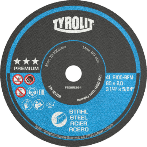 Tyrolit Cutting wheel 75X1,0X10