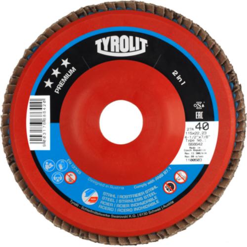 Tyrolit Flap disc 115X22,23 K40