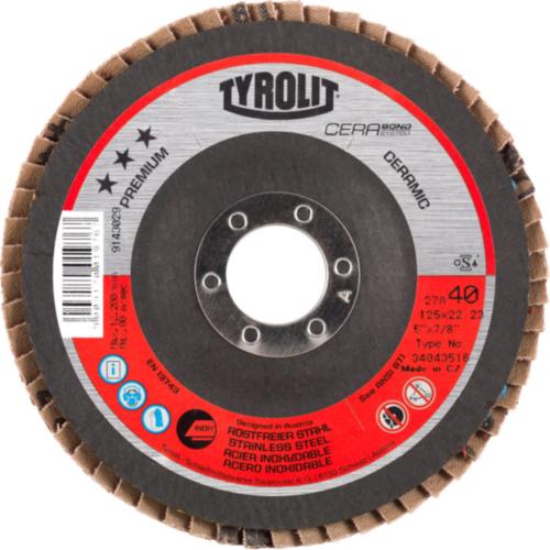 Tyrolit Flap disc 125X22,23 K40