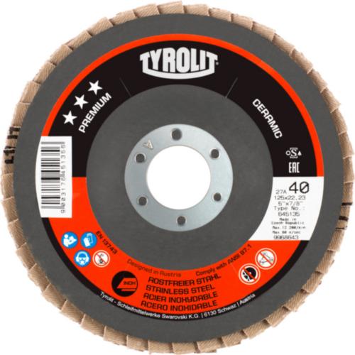 Tyrolit Flap disc 178X22,23 K40