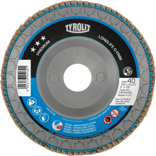 Tyrolit Disque à lamelles 125X22,23 ZA80-B