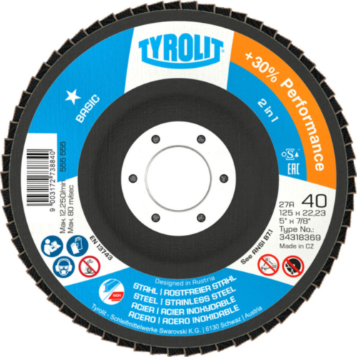 Tyrolit Flap disc 100X16 80