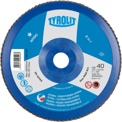 Tyrolit Flap disc 178X22,23 40