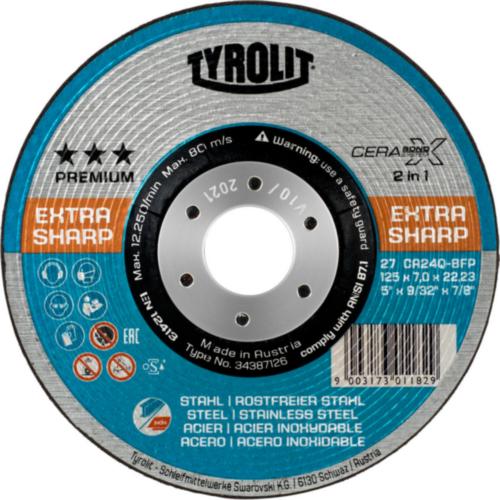 Tyrolit Deburring disc 27E CA24Q-BFP 125X4X22,23