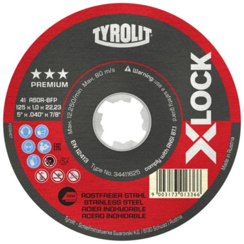 Tyrolit Disque à tronçonner 41F A60R-BFP 115X1X22,23 A60R