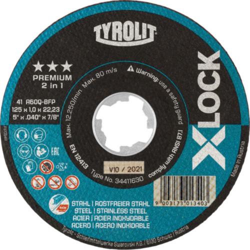 Tyrolit Rezný kotúč 41F A60Q-BFP 125X1X22,23 A60Q