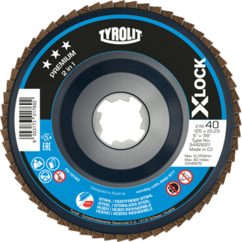 Tyrolit Flap disc 27SLA ZA120Q-B 115X22,23 ZA120Q-B