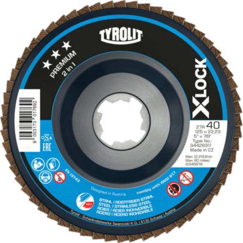 Tyrolit Flap disc 28SLN ZA120Q-B 125X22,23 ZA120Q-B