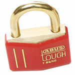 Brady Brass padlock 43MM KD RED 12PC