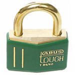 Brady Brass padlock 43MM KD GREEN 12PC