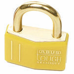Brady Brass padlock 43MM KD YELLOW 12PC