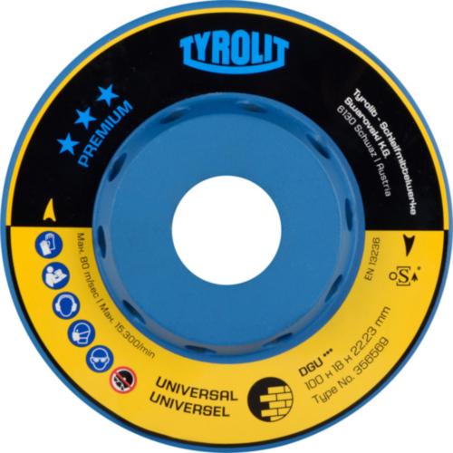 Tyrolit Diamond cup disc 100X18X22,2