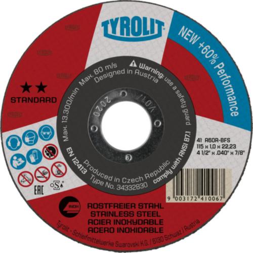 Tyrolit Disc de tăiere 367783 115X2,0X22,2