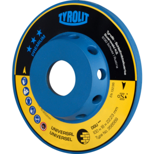 Tyrolit Diamond cup disc 110X18XM14