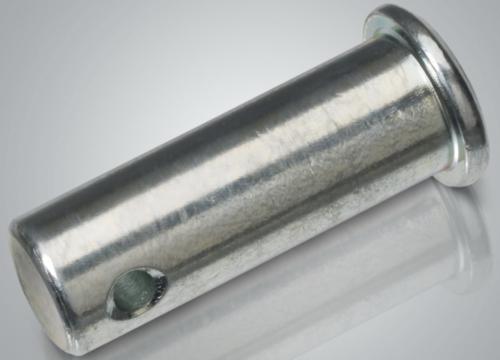 Gaffelpen met kleine kop en splitpengat DIN 1434 Automatenstaal Elektrolytisch verzinkt