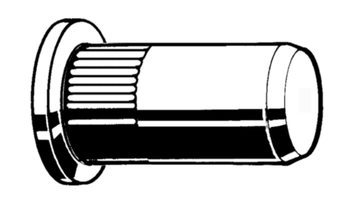 Blind rivet nuts, cylindrical head