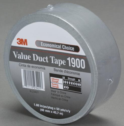 3M Duct tape 1900 Zwart 50MMX50M