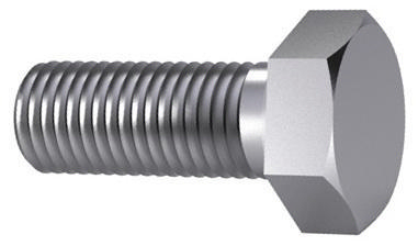 Hexagon head screw MEF ISO 8676 Steel Zinc plated 8.8 M10X1,00X20