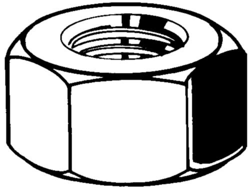 Hexagon nut for threaded rods for shuttering knuckle thread Steel Plain 5