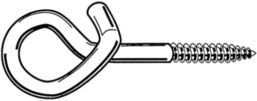 Safety swing hook with wood screw thread Steel Zinc plated