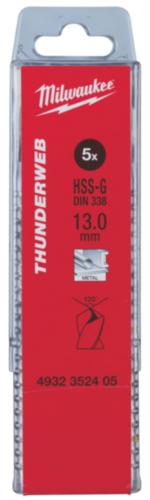 Milwaukee Metalice burghiu 13X151X101MM(5PC)