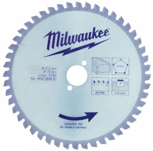 Milwaukee Pânză ferăstrău circular 216X30MM